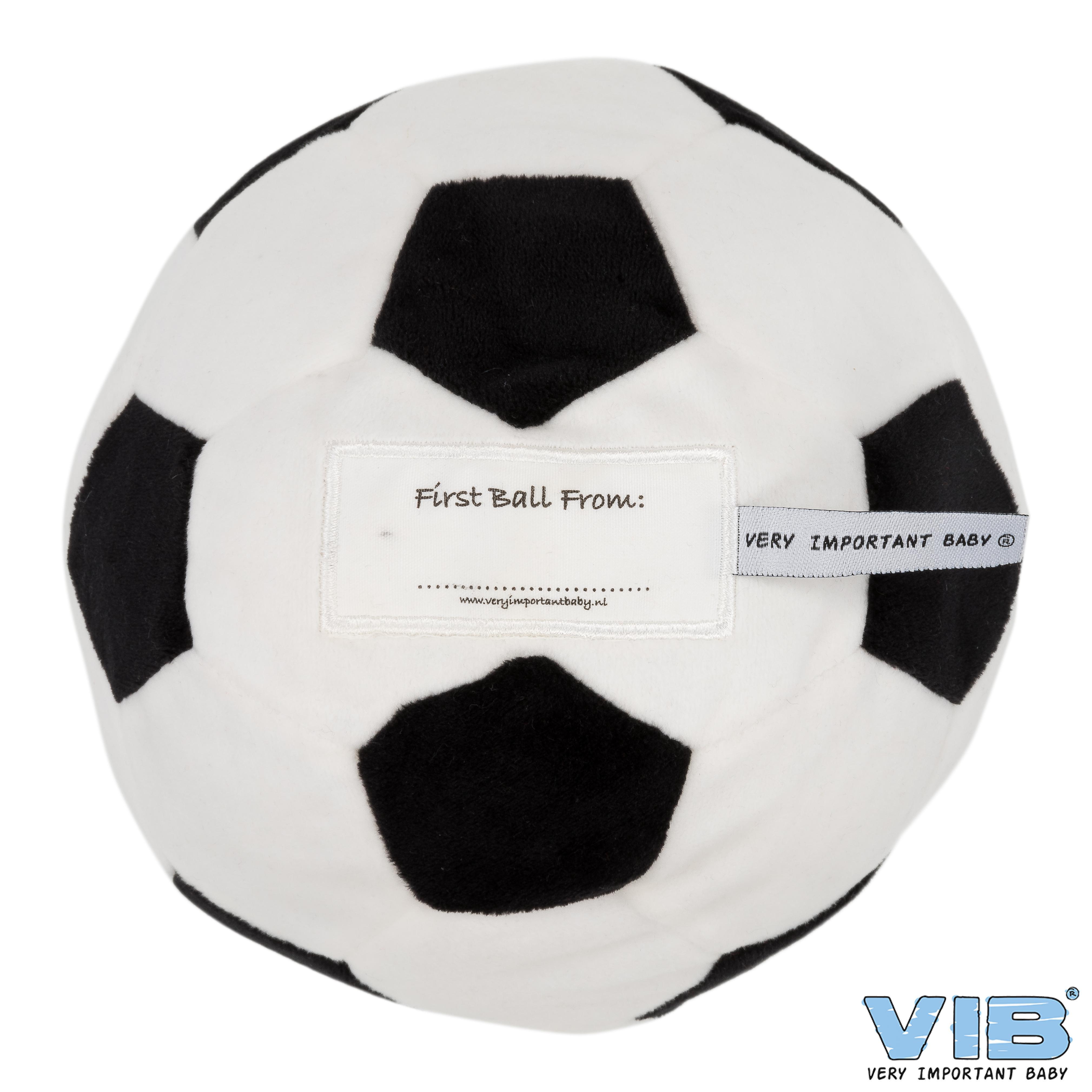 My First Football met Belletje Wit-Zwart One Size