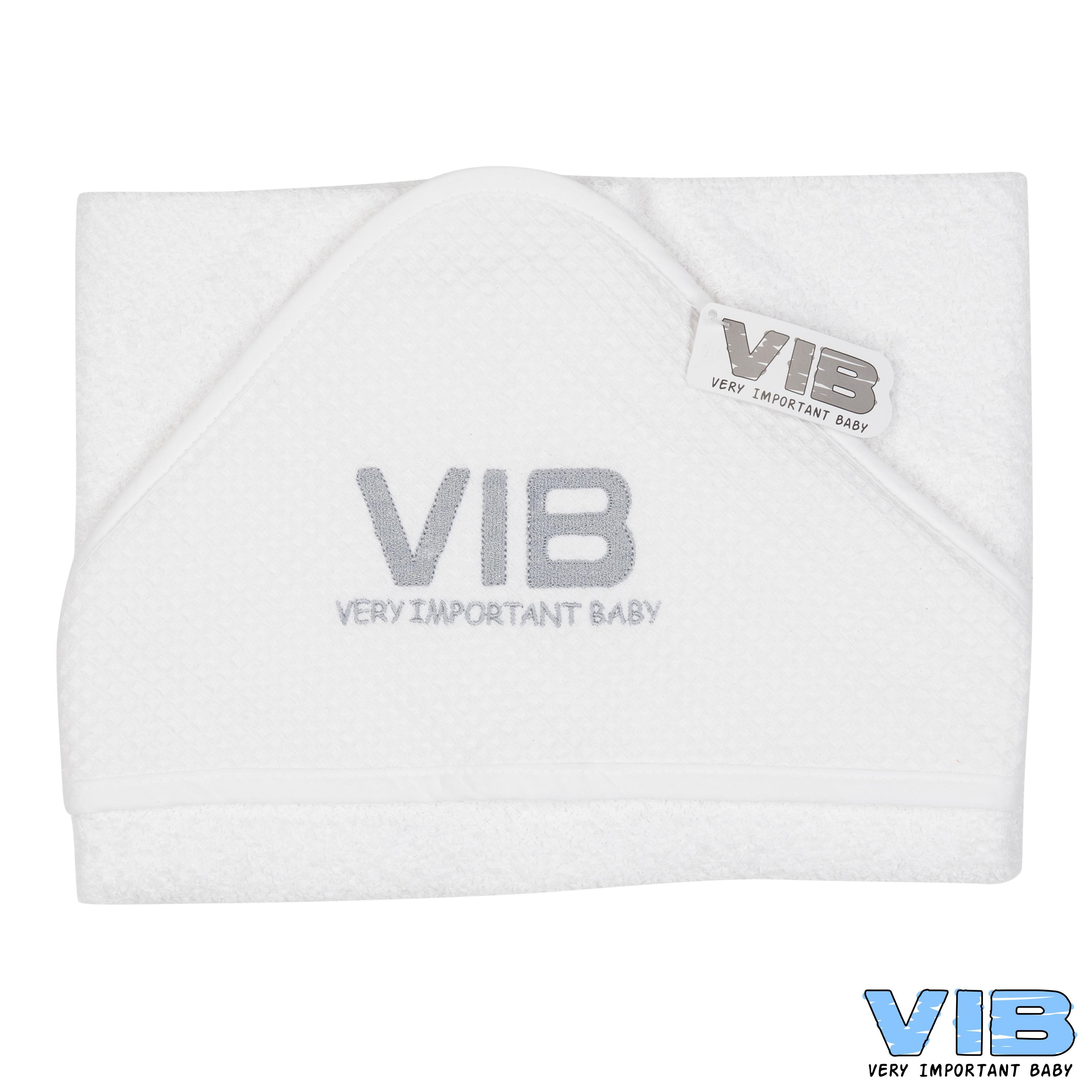 Badcape VIB Wit+Zilver 75cm x 75cm