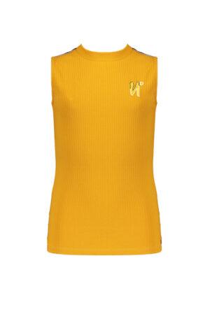 Kiev rib jersey singlet with small turtle neck