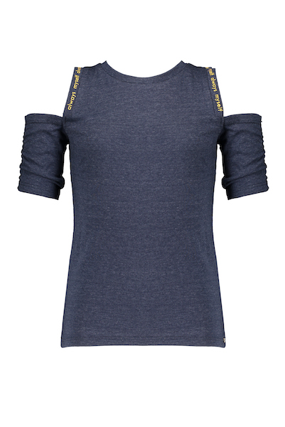 Keddy melange jersey tshirt with cold shoulders