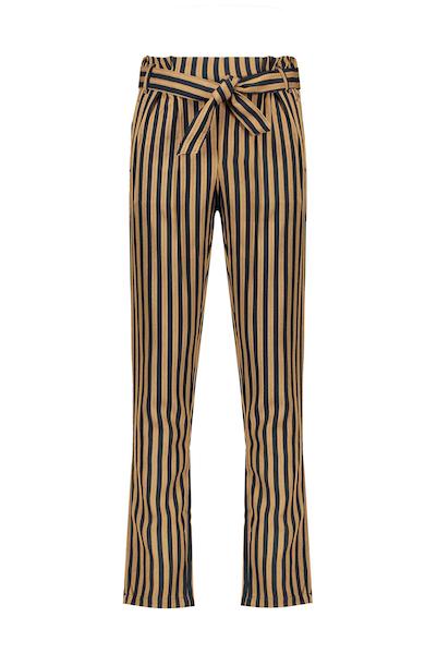 Sita paperbag pants in Herringbone stripe