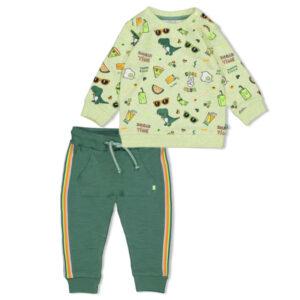 2dlg Sweater Snacktime+Broek groen