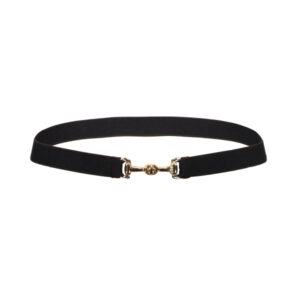 Belt Black-Gold Bit Buckle