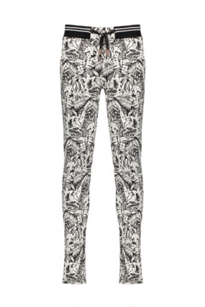 Secler pants with pintuck at CF in Tropical AOP on technical punta
