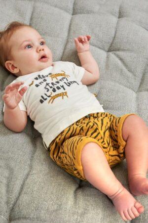 2dlg korte broek Brave and Strong (tiger)