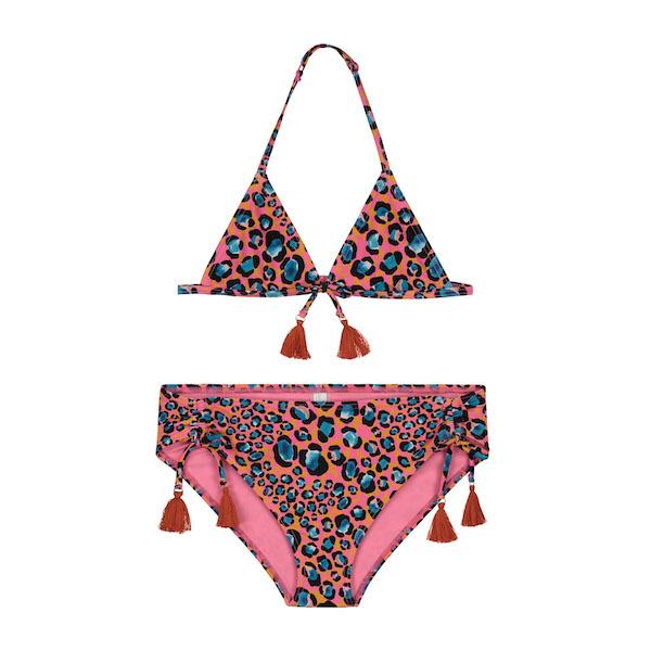 girls leopard spot triangle bikini